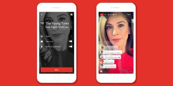 YouTube推手机直播功能